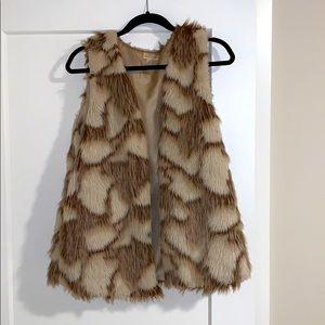 Fluffy tan vest
